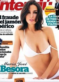Mar�a Jos� Besora posa embarazada y sexy para la revista Intervi�