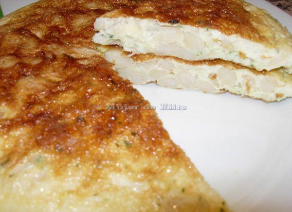Tortilla de alubias recetas de cocina mujerdeelite - Calorias alubias cocidas ...