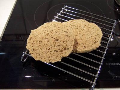 Pan de lino en microondas