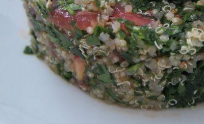 Quinoa con espinacas