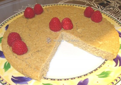 Torta ligera de salvado y manzana