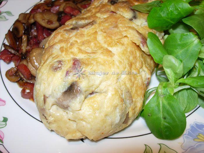 Tortilla De Champiñones Y Jamón