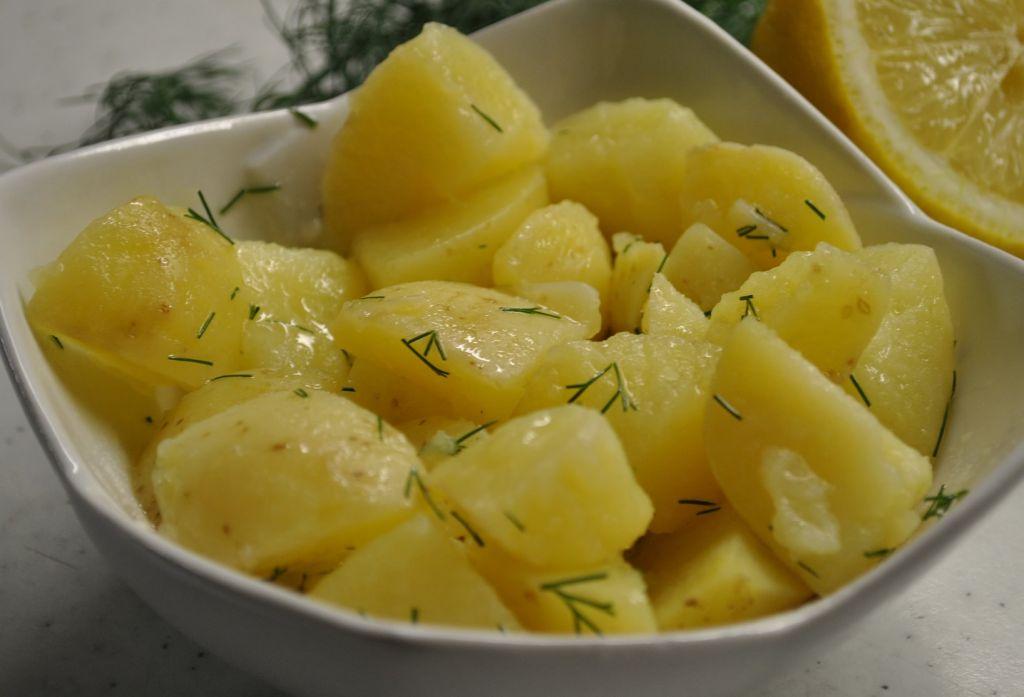 receta con patatas cocidas