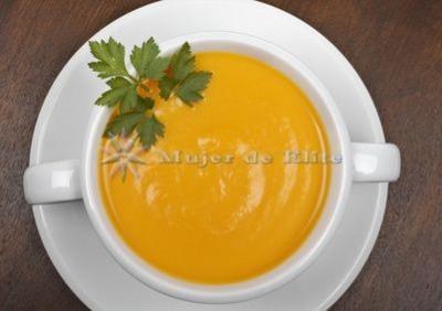 Crema de zanahorias y naranjas