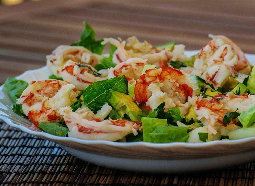 Ensalada De Aguacate Y Gambas Al Ajillo Recetas De Cocina Mujerdeelite