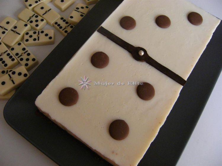 Tarta ficha de dominó
