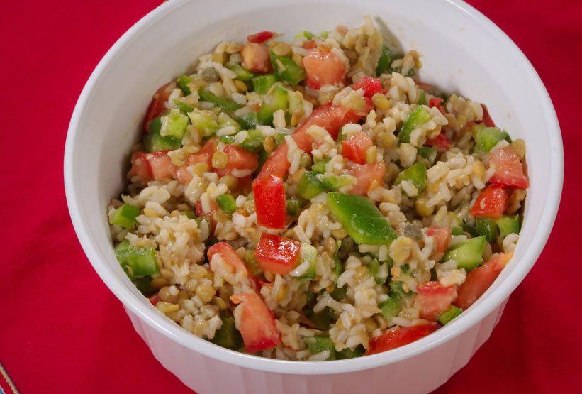 Ensalada de arroz integral recetas de cocina mujerdeelite - Ensalada de arroz light ...