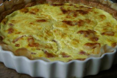 Tarta de queso y bacalao