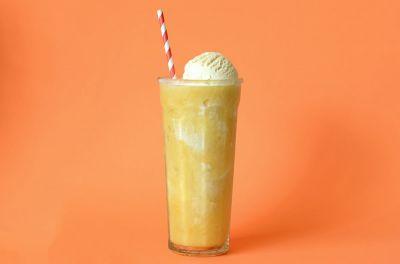 Batido de naranja y vainilla helada