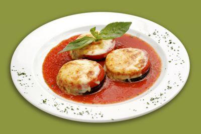 Bocaditos de berenjena y tomate