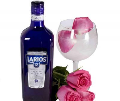 Cóctel plata y rosas para san valentín