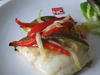 Bacalao con pimientos light