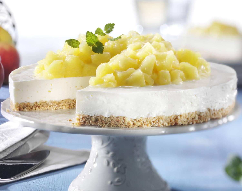 Tarta de queso con manzanas