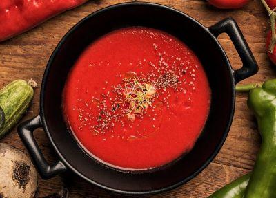 Gazpacho de tomate y remolacha