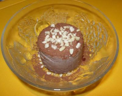 Flan de chocolate y nata (microondas)