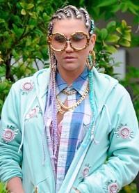 Kesha graba su nuevo videoclip con un look desastroso